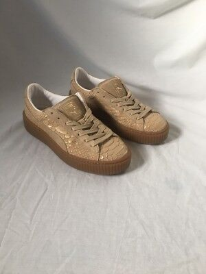 Gold Snakeskin / Reptile Print Puma Creepers Size 5