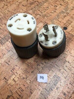 Iron Box # IBX-L520P/&R NEMA L5-20 Plug and Connector Set NIB