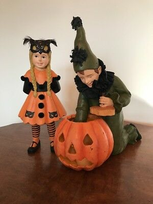 Bethany Lowe Saturday Evening Post Halloween Lighting Pumpkin-Votive Incl