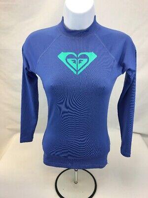 Roxy Women's/Juniors Purple Long Sleeve Rash Guard Swim Shirt Sz XS Junior Long Sleeve Rash Guard