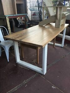 French Vintage Farmhouse Provincial Shabby Chic Industrial Dining Table Desk