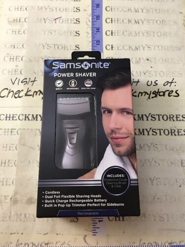 New SAMSONITE  Rechargeable Men's DUAL FOIL HEAD POWER SHAVE