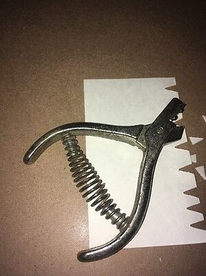Vintage Railroad Conductor Ticket Punch Hole Puncher