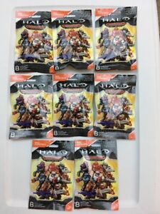 Halo Mega Bloks Construx Warrior Mystery Pack Red Elite Action Figures Lot Of 8