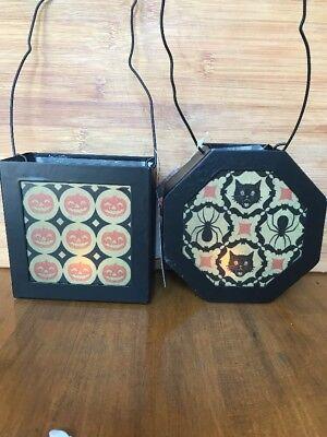 Bethany Lowe Halloween Kaleidoscope Lanterns--Set of 2--votives incl.--retired