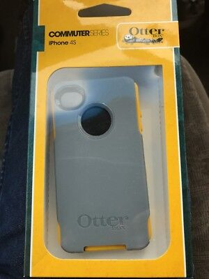 Apple iPhone 4/4S Otterbox Commuter Gray- YellOw Case Cover W/screen PrOtector