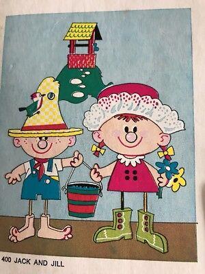 Jack & Jill Mod Moppets Three Dimensional Nursery & Playroom Decorations 1970s