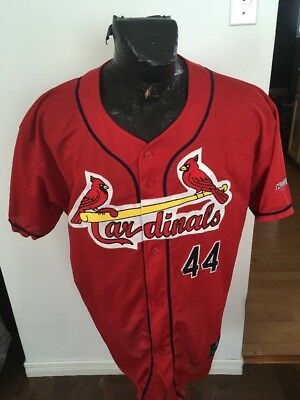 - MENS XLARGE EASTON MLB Baseball Jersey HAMILTON ? CARDINALS #44