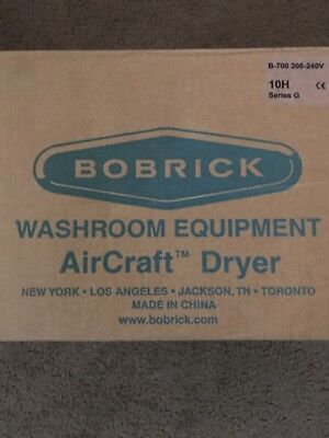 Bobrick B-700 Series G Aircraft 10h Surface Mount Hand Dryer Washroom Blower Hv