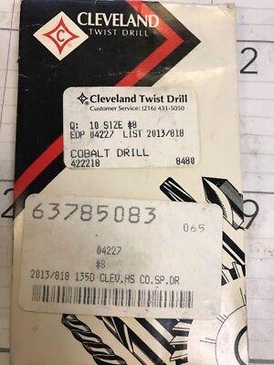 Cleveland Twist Drill 8 Cobalt Jl Jobber Length C04227 7 Pcs