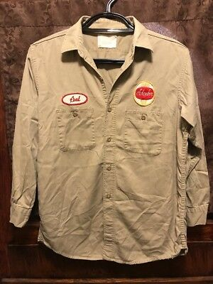 SCHAEFER BREWING Milwaukee WI ~ VINTAGE ~ LRG ~ Beer Delivery Work Shirt PBR