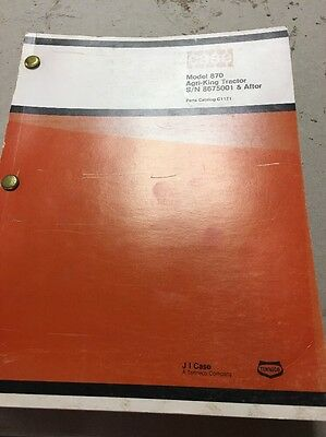 Case 870 Agri-king Tractor Sn 8675001 After Parts Catalog Manual