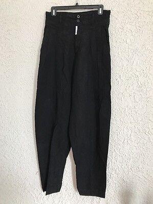 Vintage 80s 90s Z Cavaricci Parachute Pants Pleated Black High Waist Men 31 X 30