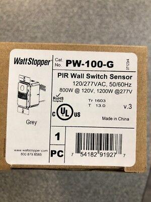 Wattstopper Pw-100-g Pir Wall Switch Occupancy Sensor New In Box