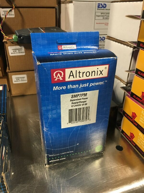 ALTRONIX SMP7PM SUPERVISED POWER SUPPLY/CHARGER 12-24VDC @ 6A *NEW*