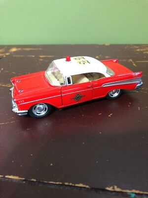1957 Red Chevrolet Bel Air Kinsmart 1/40 Kinoy Die-casting Mfy 2009 Toy Car