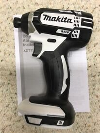 """Makita XDT11z White 18v LXT Lithium-Ion 1/4""""Cordless Impact Driver Tool Only 2018"""