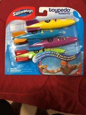 Swimways  Toypedo Swimming Pool Bandits   4 Pack