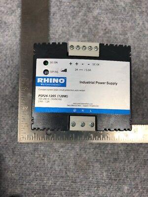 Automation Direct Rhino Psp24-120s 24vdc Power Supply 100-240v Input 5060hz