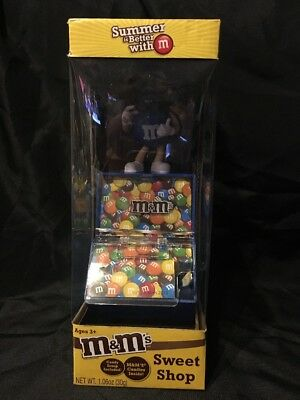Sweet Shop / Summer is Better With M & M's - Candy Dispenser 2013 BLUE NEW!