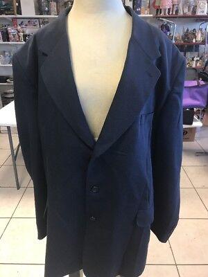 Vanetti  52R Sport Coat/Blazer/Suit Jacket Polyester-Blue