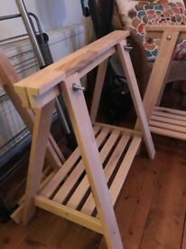 Ikea Finnvard Trestle Table Legs X 2
