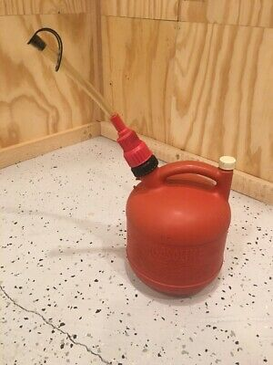 Eagle Pg-1 Round Gas Can Vented 1.25 Gallon Spill Saver Nozzle Spout 1 14