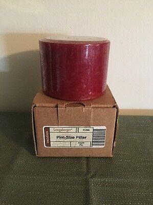 Longaberger Pint Size Pillar Candle -Apple Pie- New