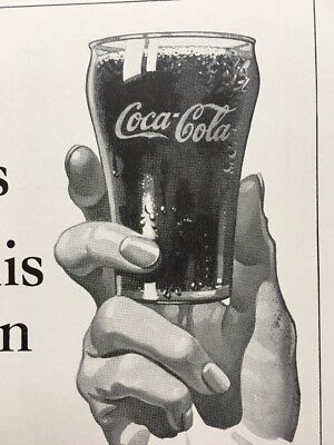 Vintage 1940 COKE Coca Cola Soda Ad Better Way Of Living Glass 5 Cents
