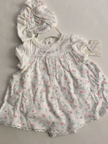 Little Me Baby Girls Dress Hat Outfit Set Size 3 6 9 Months