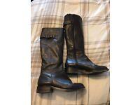 Bianca Knee length Boots size 6 - Dark Brown