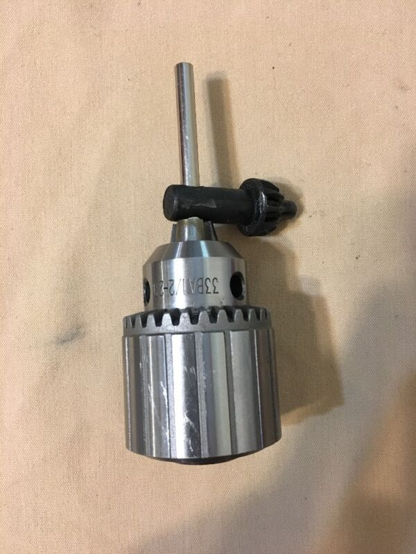 New JACOBS Drill Chuck # 33 BA With Set Screw Threaded 1/2-20/ No Key