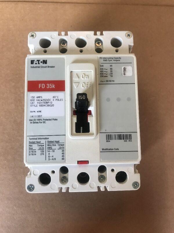 * EATON Industrial Circuit Breaker FD 35K 150A, 3P, 600V Cat# FD3150BP10