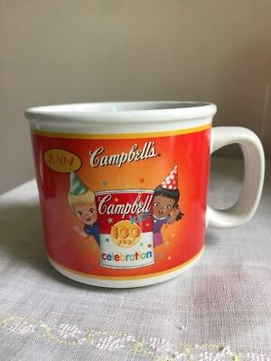 """Cambells Kids Soup Mugs 100 Year Anniversary 1904 - 2004 """"Party"""" Houston Harvest (Kids Party Houston)"""