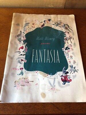 Fantasia 1940 Walt Disney film program ORIGINAL