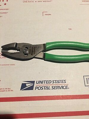 Snap On Green Heavy Duty Slip Joint Pliers