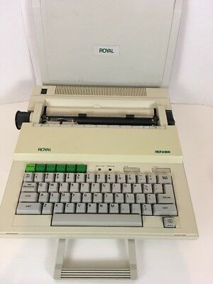 Royal Electronic Typewriter Alpha 101 Portable Made In Japan