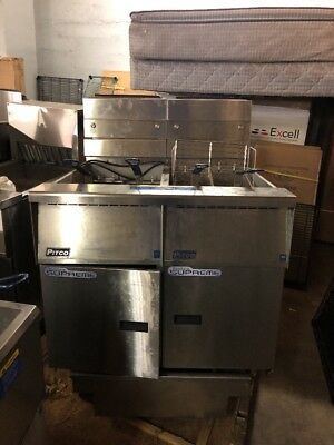 Pitco Ssh55 50lb Commercial Battery Of 2 Gas Fryer With Filter