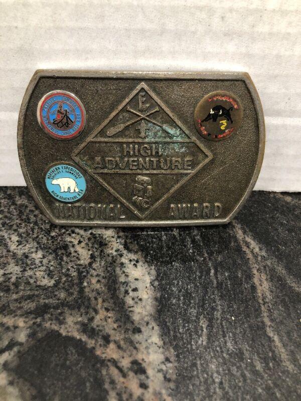 High Adventure National Award Metal Belt Buckle   VINTAGE