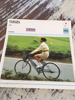 Yamaha PASO bicicleta eléctrica 1993 Tarjeta motorrad Colección Atlas Japón