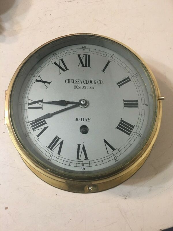 "Vintage Large 8"" Dial Ships Clock Not A Chelsea"