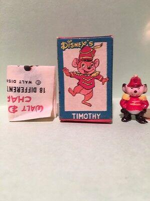 Marx Disneykins Timothy Mouse plastic Disney figure Dumbo circus character