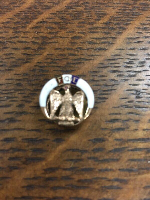 14k Gold FOE Fraternal Order Of Eagles  🦅 Enameled Pin 1.9 Grams
