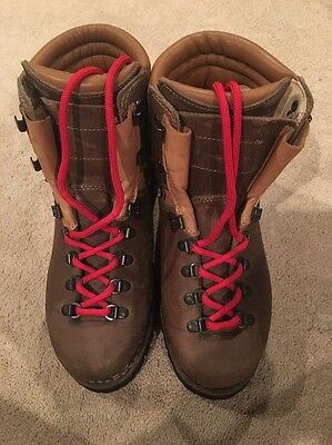Alico Men's 8 MW Leather BROWN  Mountaineering Boots Made in italy