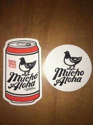 Mucho Aloha Brewing ~ Craft Beer Stickers ~ Hawaiian Style Pale Ale