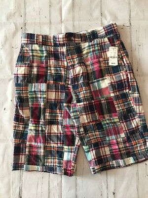 NEW Brooks Brothers  boys sz 18 Boys Teen Madras Plaid Shorts $69 - Teen Boys 69