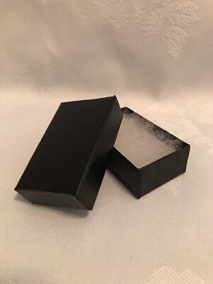 21 Cotton Filled Paper Jewelry Boxes Black Leatherette 81 Count 2.5 X 1.5