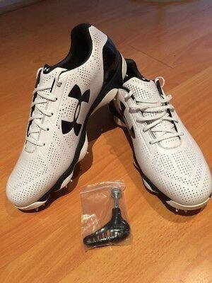 New Men's UA Under Armour Drive One Golf Shoes 1267756-103 White Sz13.5 , ERU48