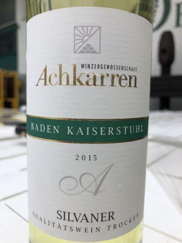 Silvaner Achkarren Kaiserstuhl pfundig trockener Weißwein 6x0,75l 2015 Baden AJG