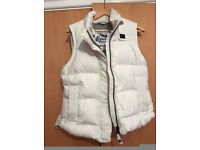 Superdry, white, large womans gilet,